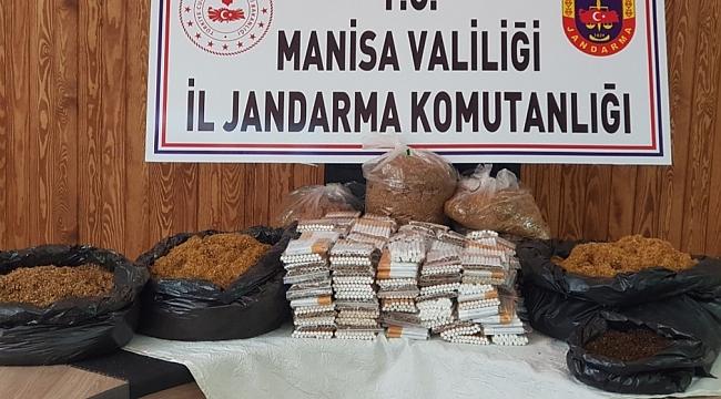 SALİHLİ'DE KAÇAK SİGARA OPARASYONLARI