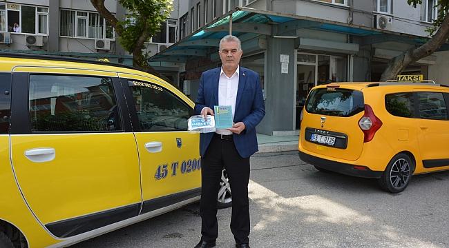 Manisa'da 188 taksi haftada bir gün dezenfekte ediliyor