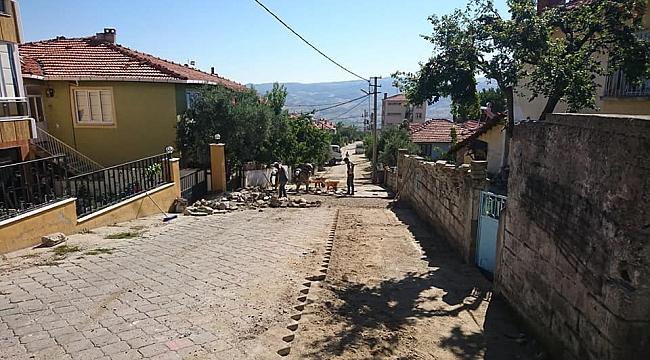 Sokak ve caddelerde üst yapı çalışması