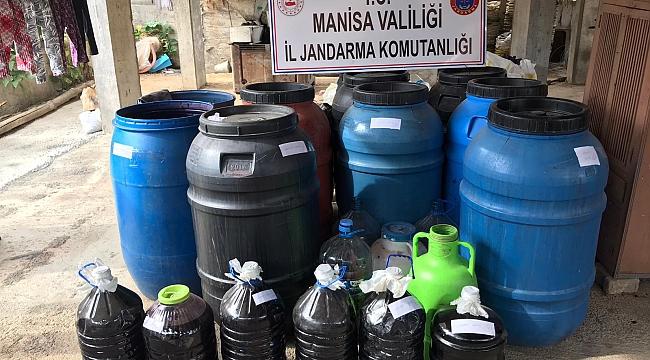 Manisa'da 20 ton kaçak şarap ele geçirildi