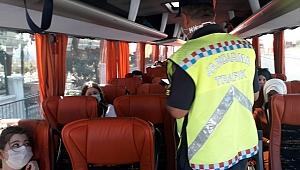 Manisa'da uymayan şoför ve yolculara13 bin 695 TL ceza