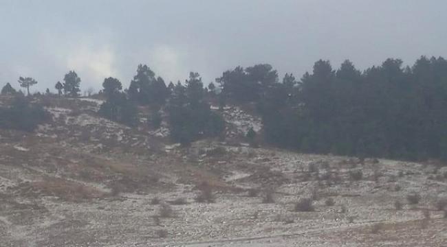 Manisa'da İlçeye Kar Yağdı