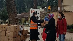 LÖSEV'den Manisa'da et yardımları