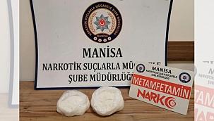 Manisa'da 1 kilo 501 gram metamfetamin ele geçirildi