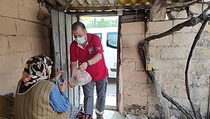 Kızılay ihtiyaç sahiplerinin yardımına koşuyor