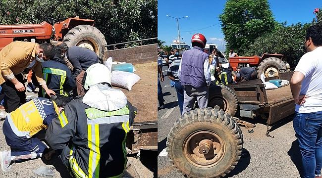 Traktörün karıştığı bir kaza daha: 4 yaralı
