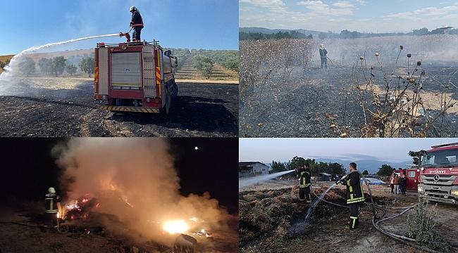 Manisa'da her gün onlarca yangın...