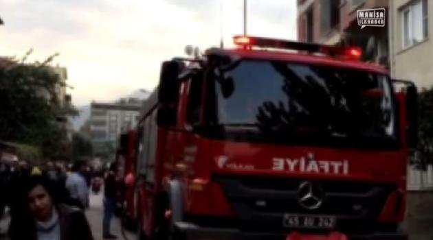 4 katlı binada yangın