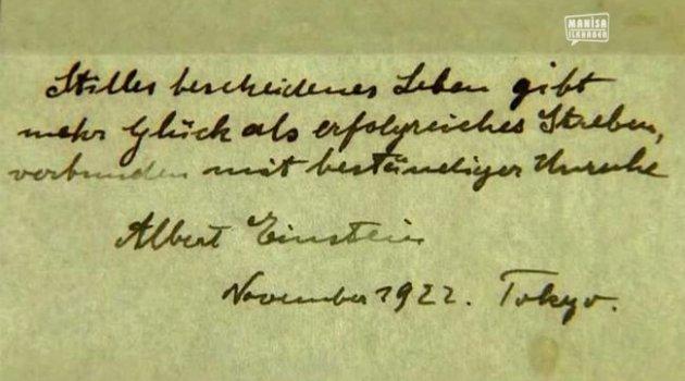 Einstein'ın Teorisine 1.3 milyon Dolar Açık Artırma Teklifi Geldi