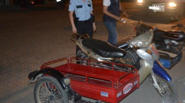 Manisa'da motosiklet kullanıcıları teftiş ediliyor