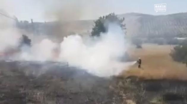 Manisa'da yangın