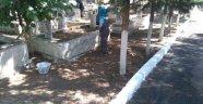Köprübaşı mezarlıkları temizleniyor