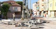Soma'da kilit parke taşı döşeme çalışmaları