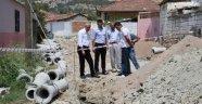 35 yıllık kanalizasyon hattı yenileniyor