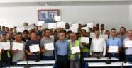 Temizlik işçilerine sertifika verildi