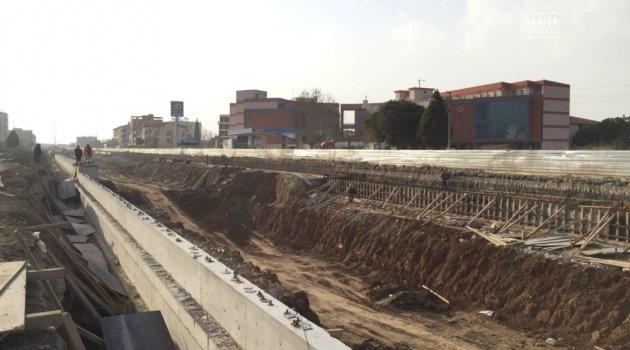 Turgutlu Köprülü Kavşağında Çalışmalar Hız Kesmiyor