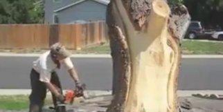 Ağaçta Sanatını Konuşturdu